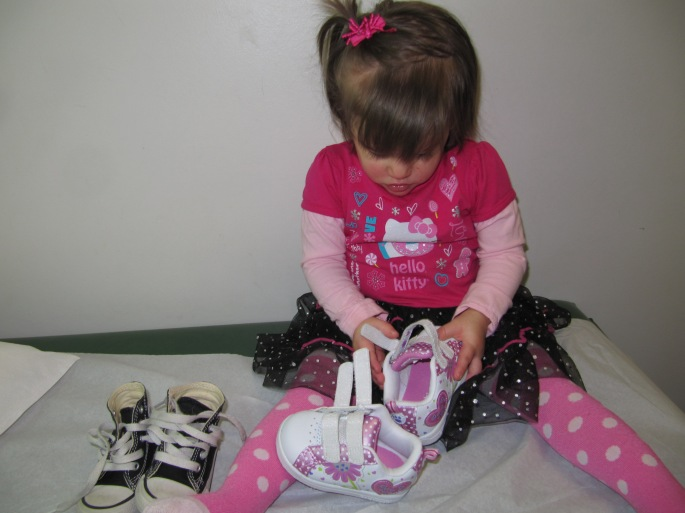 I love velcro! These shoes are cute, but the velcro made them too much fun to leave alone.